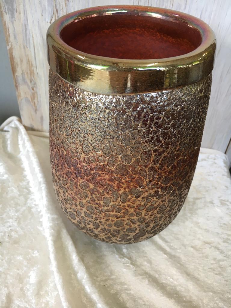 Vase - braungold